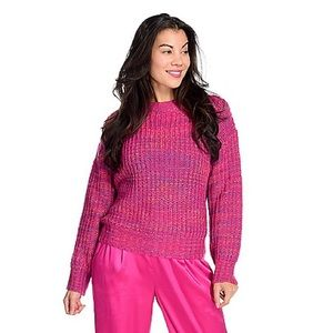 Band of Gypsies Sweaters - Band of Gypsies    Marled Knit Crew Neck Sweater